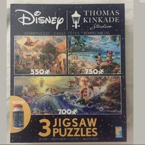 Disney Thomas Kinkade Puzzles Bundle